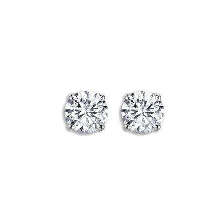 0.78 Carat (ctw) 14K White Gold Round Cut Ladies Diamond Stud Earrings