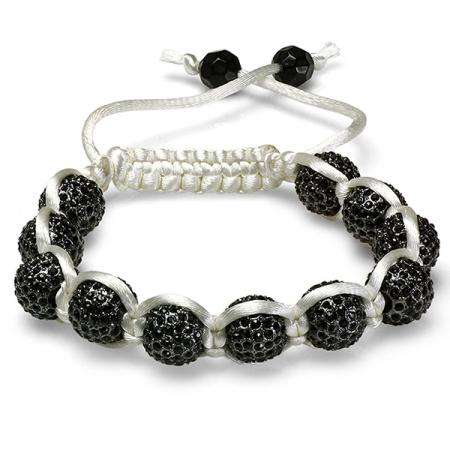 Shamballa Bracelet Pave Mens Ladies Unisex Hip Hop Style Eleven Yellow Disco Ball Faceted Bead Unisex Adjustable