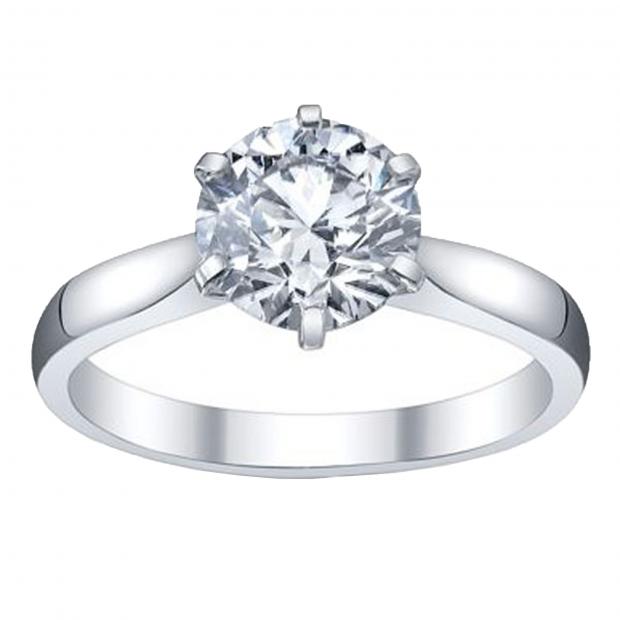 IGI Certified 0.81 Carat (ctw) 14K White Gold Brilliant Round Diamond Ladies Bridal Engagement Solitaire Ring 3/4 CT