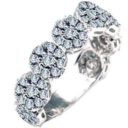1.00 Carat (ctw) 14K White Gold Round Diamond Anniversary Wedding Ring Band
