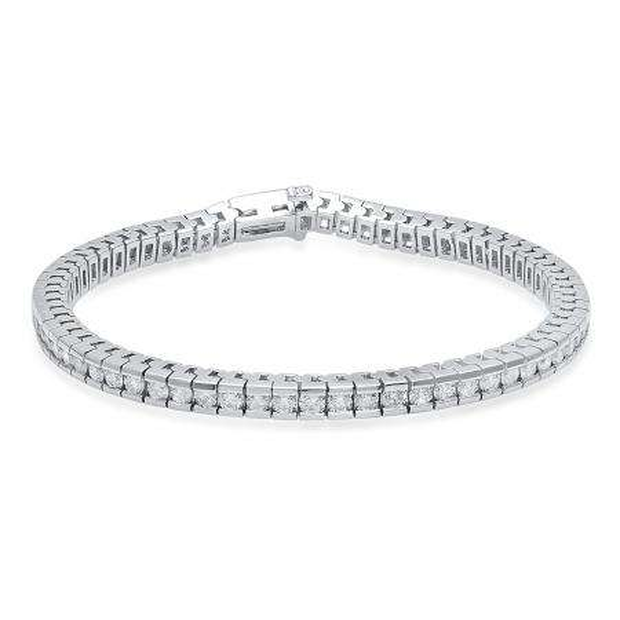 5.00 Carat (Ctw) 14K White Gold Round White Diamond Ladies Tennis Bracelet 5 CT
