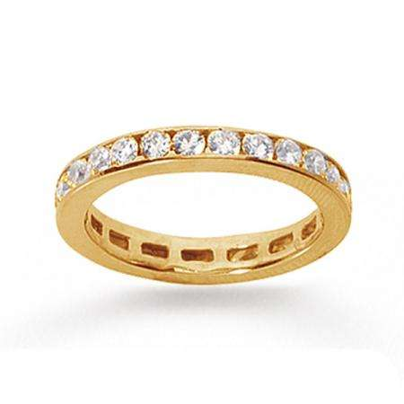 14k Yellow Gold Real Diamond Channel Eternity Band (0.75 CT)