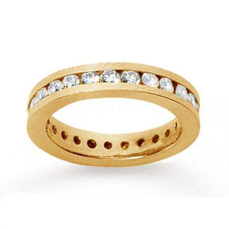 14k Yellow Gold Real Diamond Channel Eternity Band (1.00 CT)