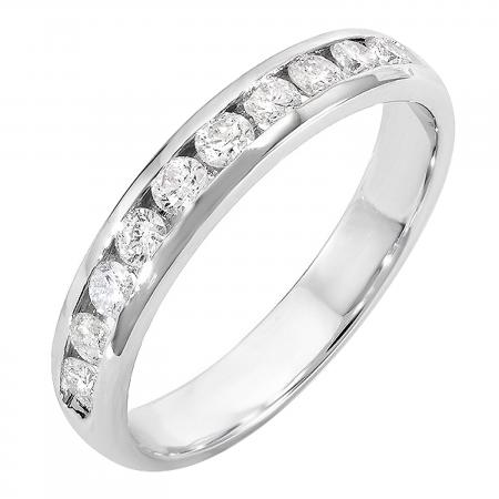 0.55 Carat (ctw) 14k White Gold Round Diamond Men