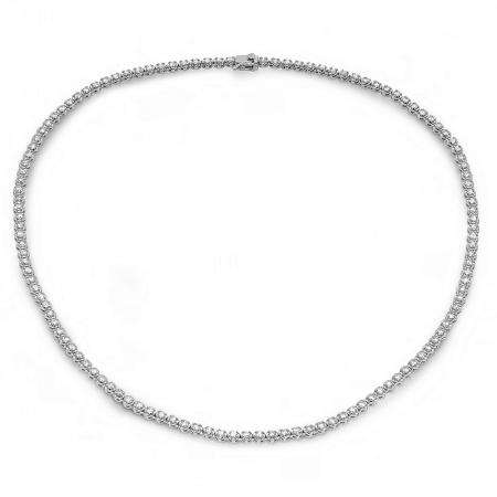 5.00 Carat (ctw) 14K White Gold Real Round Diamond Ladies Tennis Necklace 5 CT