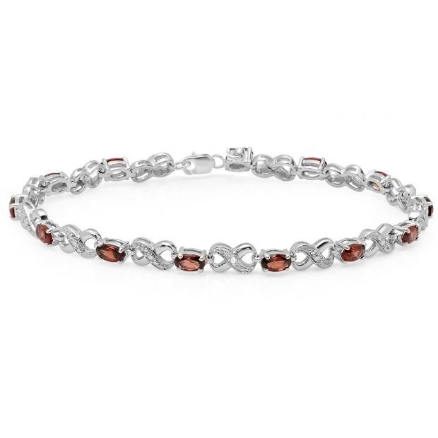 Sterling Silver Diamond Bracelets