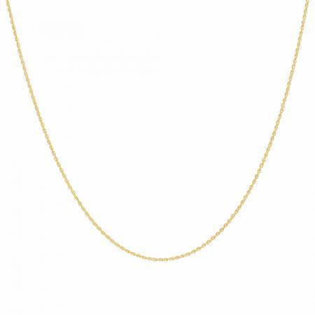 583a60618424e 10 Karat Yellow Gold Loose Rope Chain Necklace (18 inch) - Dazzling Rock