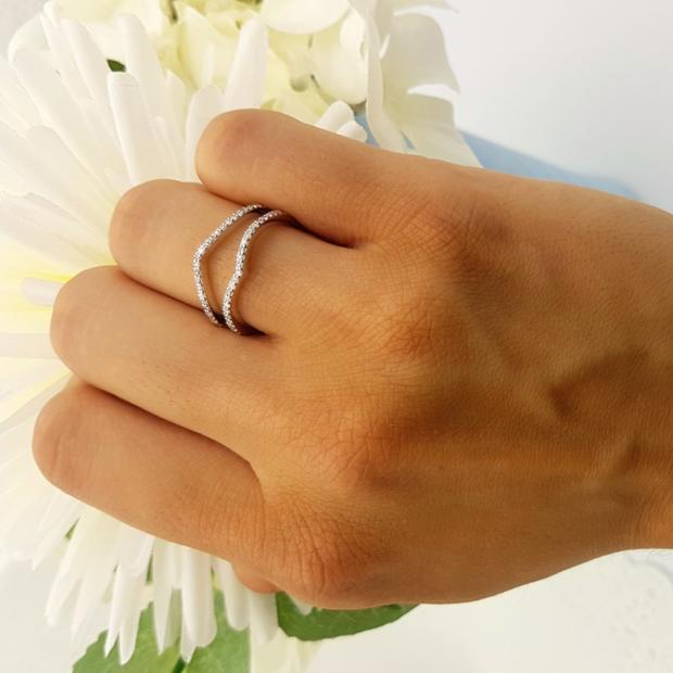 ctw 10K Gold Round Diamond Ladies Anniversary Wedding Band Enhancer Guard Double Ring K4275-10K-P Dazzlingrock Collection 0.40 Carat