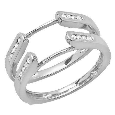 Dazzlingrock Collection Round Lab Created Gemstone Ladies Guard Double Wedding Band 10K Yellow Gold