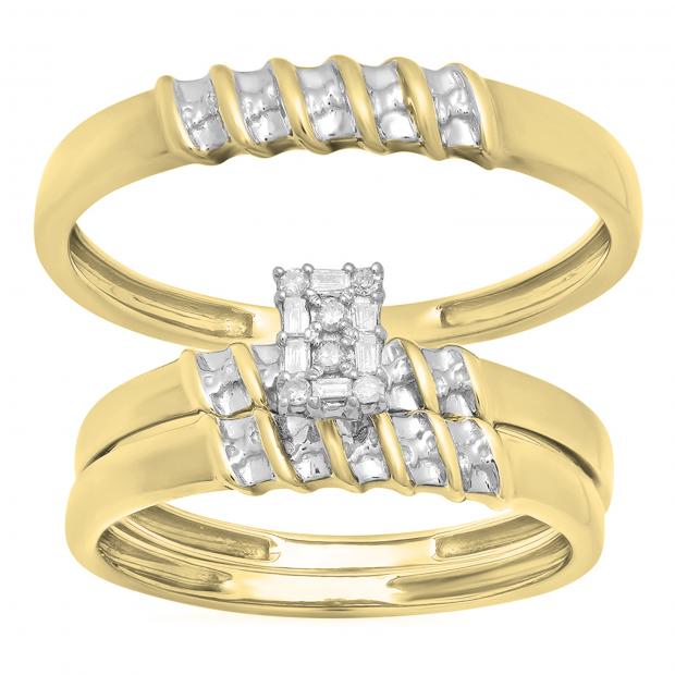 0.10 Carat (ctw) Round White Diamond Ladies & Men