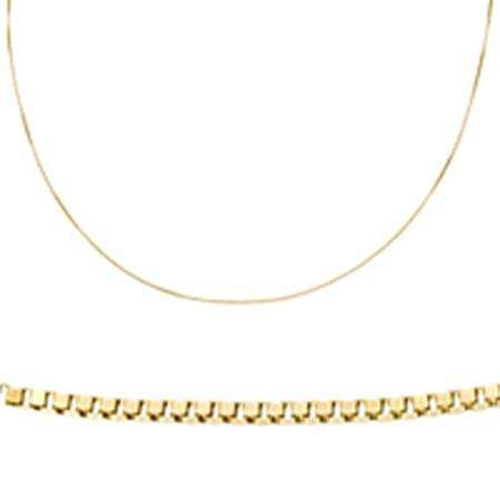 4329b861fb4 14 Karat Yellow Gold Box Chain Necklace (18 inch) - Dazzling Rock