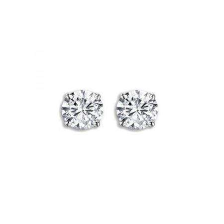 8101aa84f IGI CERTIFIED 0.48 Carat (ctw) 14K White Gold Round Cut White Diamond Ladies  Solitaire Stud Earrings 1/2 CT