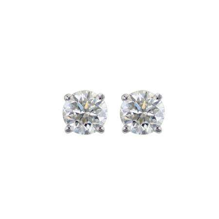 39b0634df 0.10 Carat (ctw) 14K White Gold Round Cut White Diamond Ladies Stud Earrings