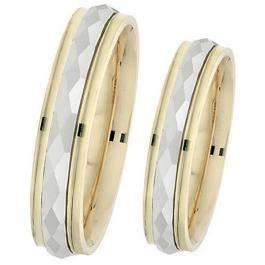 14k Yellow Gold Men's Ladies Unisex Ring Fancy Wedding Band 5MM Faceted & Polished Shiny Comfort Fit (Available in Sizes 4 to 12)