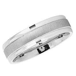 14k White Gold Men's Ladies Unisex Ring Fancy Wedding Band 6MM Dome and Polished Shiny Comfort Fit (Available in Sizes 4 to 12)