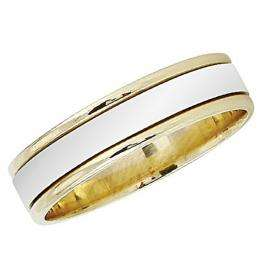 14k Yellow Gold Men's Ladies Unisex Ring Fancy Wedding Band 5.5MM Flat Shiny Polished Traditional Fit (Available in Sizes 4 to 12)