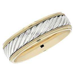 14k Yellow Gold Men's Ladies Unisex Ring Fancy Wedding Band 6MM Engraved Shiny Polished Traditional Fit (Available in Sizes 4 to 12)