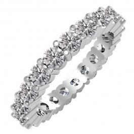2.50 Carat (ctw) 10K White Gold Round Lab Grown Diamond Ladies Eternity Stackable Ring Wedding Band