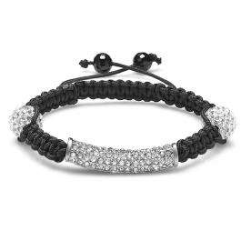 Shamballa Bracelet Men's Ladies Unisex Hip Hop Style Pave Clear CZ Cubic Zirconia Faceted Bead Unisex Adjustable