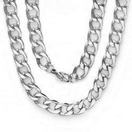 Men's Platinum Plated Hip Hop Cuban Chain (11 MM Width x 36 Inch Length)