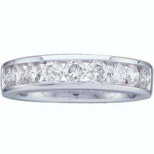 0.25 Carat (ctw) 14K White Gold Round White Diamond Ladies Stackable Wedding Anniversary Band 1/4 CT