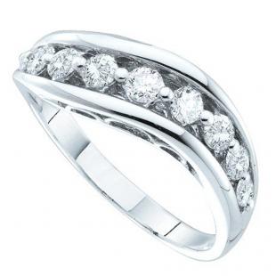 0.51 Carat (ctw) 14k White Gold Round White Diamond Ladies Wedding Anniversary Fashion Band