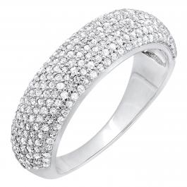 0.90 Carat (ctw) 10k White Gold Round Diamond Anniversary Wedding Band Ring