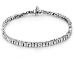 10.00 Carat (ctw) 10K White Gold Round Cut Real Diamond Ladies Tennis Bracelet 10 CT