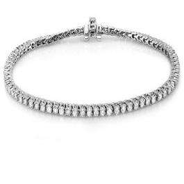 8.00 Carat (ctw) 10K White Gold Round Cut Real Diamond Ladies Tennis Bracelet 8 CT
