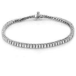 7.00 Carat (ctw) 18K White Gold Round Cut Real Diamond Ladies Tennis Bracelet 7 CT