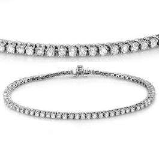 2.00 Carat (ctw) 14K White Gold Round Cut Real Diamond Ladies Tennis Bracelet 2 CT