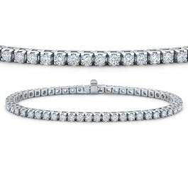 3.00 Carat (ctw) 14K White Gold Round Cut Real Diamond Ladies Tennis Bracelet 3 CT