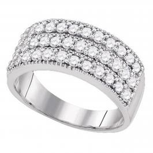 0.95 Carat (ctw) 18K White Gold Round Cut Diamond Ladies Anniversary Wedding Band 1 CT