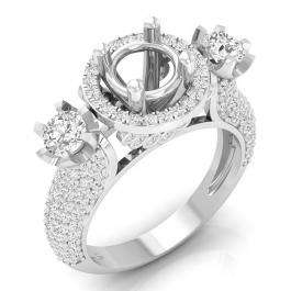 1.80 Carat (ctw) 18K White Gold Round White Diamond Ladies Bridal Semi Mount Engagement Ring (No Center Stone)