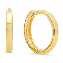 Ladies Fashion Hoop Earrings, 14K Yellow Gold