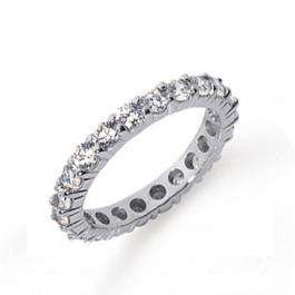 2.01 Carat (ctw) 14k White Gold Round Diamond Ladies Eternity Wedding Band