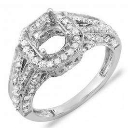 1.25 Carat (ctw) 14k White Gold Round Diamond Ladies Bridal Semi Mount Ring (No Center Stone)