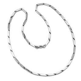 Stainless Steel Mens Ladies Unisex Fancy Chain Necklace 23 inch long 3 mm thickness Lobster Clasp