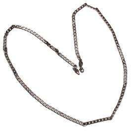 Black Rhodium Plated Mens 4mm Wide 24 Inches Long Curb Link Hip Hop Chain Necklace