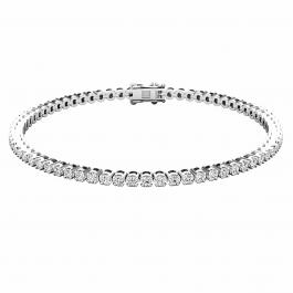 IGI CERTIFIED 2.00 Carat (ctw) Platinum Round Cut White Diamond Ladies Tennis Bracelet 2 CT