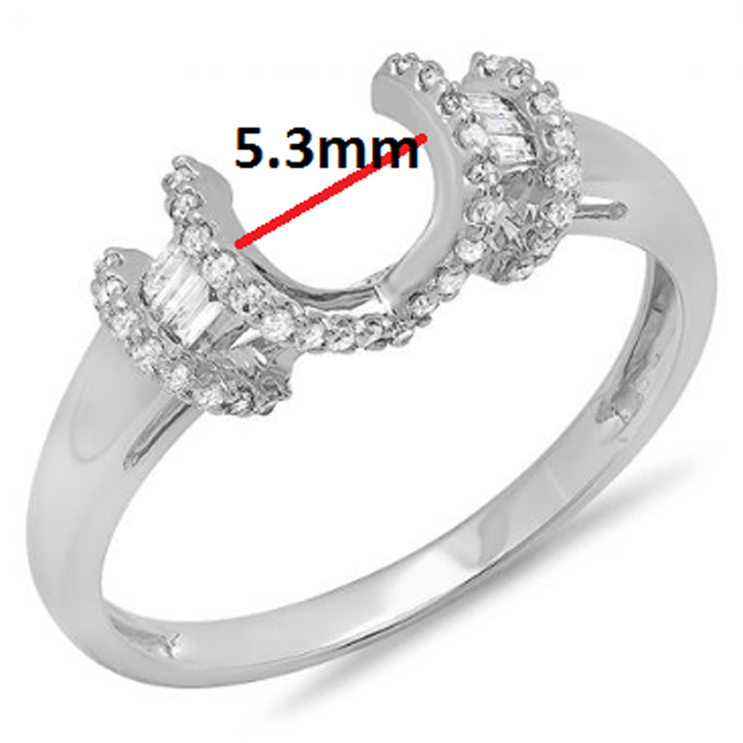 0.20 Carat (ctw) 14k White Gold Round & Baguette Diamond Ladies Anniversary Wedding Band Enhancer Guard Ring 1/5 CT
