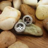 0.55 Carat (ctw) 14K White Gold Round Cut Diamond Millgrain Removable Jackets For Stud Earrings 1/2 CT