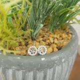 0.50 Carat (ctw) 14K White Gold Round Cut Diamond Cluster Style Removable Jackets For Stud Earrings 1/2 CT