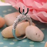 0.55 Carat (ctw) 14K White Gold Round White Diamond Ladies Bridal Semi Mount Engagement Ring 1/2 CT (No Center Stone)