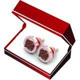 0.50 Carat (Ctw) 10K Rose Gold Round Champagne & White Diamond Ladies Cluster Style Stud Earrings 1/2 CT