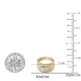 0.30 Carat (ctw) 18K Yellow Gold Round Diamond Men & Women's Engagement Trio Bridal Set 1/3 CT