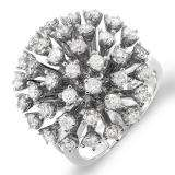 2.00 Carat (ctw) 14k White Gold Round Diamond Ladies Cocktail Right Hand Ring