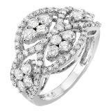 1.80 Carat (ctw) 14k White Gold Round Diamond Ladies Cocktail Right Hand Ring