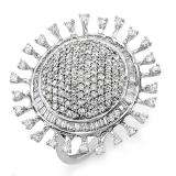 2.00 Carat (ctw) 14k White Gold Round Diamond Ladies Cocktail Right Hand