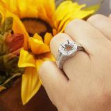 1.25 Carat (ctw) 14k White Gold Round Diamond Ladies Bridal Semi Mount Ring (No Center Stone)